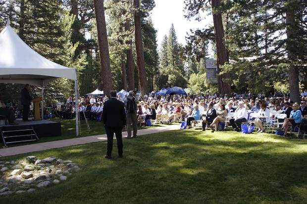 Hundreds of locals from the Tahoe Basin showed up to listen to members of Congress and the governors of Nevada and California at this year's Lake Tahoe Summit.