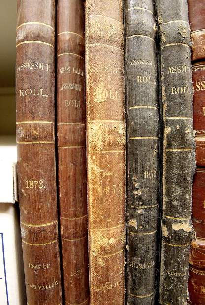 The Grass Valley assessment tax books have already been placed on the shelves at the Searls Historical Library in Nevada City. The first of which dates back to 1873.