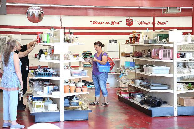 Thrift store shoppers take advantage of the final days of the Grass Valley Salvation Army Thrift Store's discounted prices. The Salvation Army center off Alta Street will continue to serve the people of Nevada County as well as the Booth Family Center off of Rough and Ready Highway.