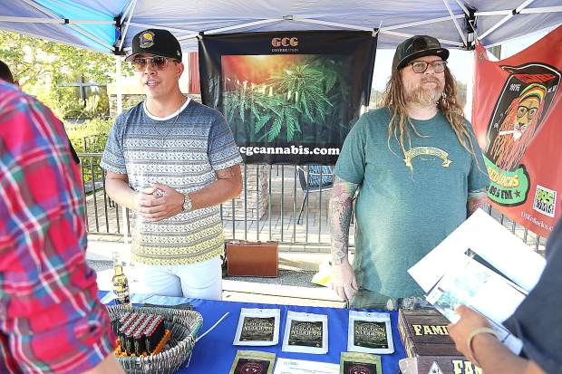 A Nevada County Cannabis Alliance Farm to Market showcase, held at the Foothills Event Center, was an opportunity for folks working in the legal cannabis market to network.