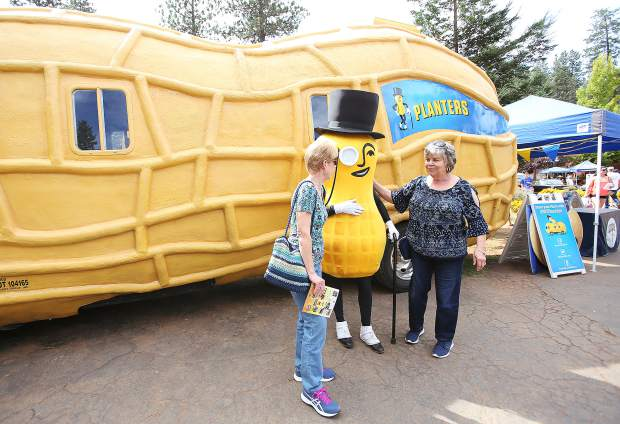 Appearances by Mr. Peanut brought delight to the crowds as they got the opportunity to take a selfie with the Planters Peanut mascot and his Peanutmobile.
