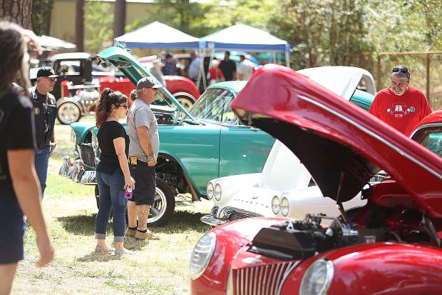 Hundreds of folks took time to take part in the 20th anniversary of the annual Cruisin' the Pines Car Show hosted by the Roamin Angels Car Club at the Nevada County Fairgrounds over the weekend.