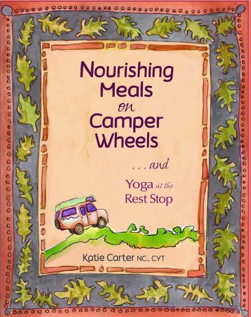 Carter's book includes natural first aid remedies, camping preparedness tips, helpful yoga poses for long drives or hikes, whimsical self-drawn illustrations, and vignettes recalling her many travels in each chapter.