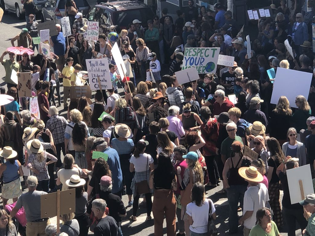 Nevada County locals participated in the Global Climate Strike Friday, Sept. 20, 2019.
