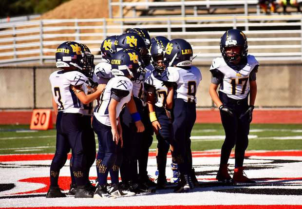 The Nevada Union 8U Jr. Miners went on the road and topped the Bella Vista Jr. Broncos, 40-0, to kickoff the 2019 season.