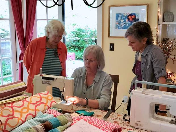 The PWR (Plastic Waste Reduction) Coalition has been organizing sewing parties in an effort to sew 1,000