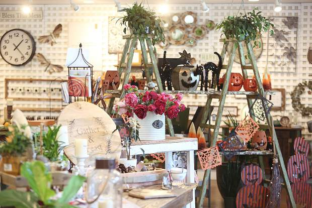 The Wildflower Nursery's gift shop has a wide selection of items catering to individual seasons.
