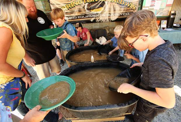 Youngsters got the chance to try their hand at gold panning with a demonstration from Harrington and Baldwin Mining Supplies.