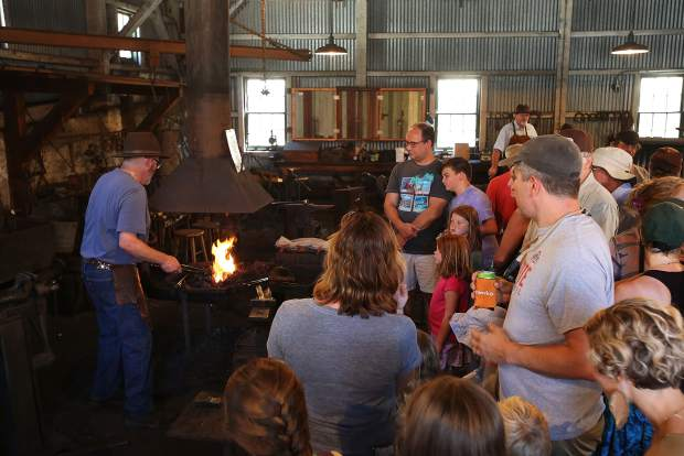 Demonstrations went on all day during the 124th Miners Picnic including at the black smith shop, where attendees could see how the miners used to forge their metal.