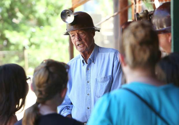 The first Miners Picnic in 1894 was held as a benefit for orphaned children and widows of miners who died working the Empire Mine. Now, the event is an opportunity to provide education about one of the state's most productive gold mines with help from docents like Orlo Steele, who worked the mine in 1950.