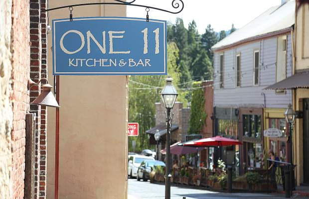 One 11 Kitchen & Bar sits at the corner of Commercial and North Pine streets in downtown Nevada City.