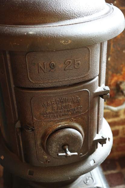 Historical elements such as this Hardwick stove remind those of One 11 Kitchen & Bar's storied past.