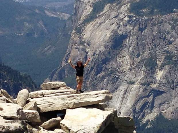 The Day Hiker Mary West conquers Yosemite's Half Dome.