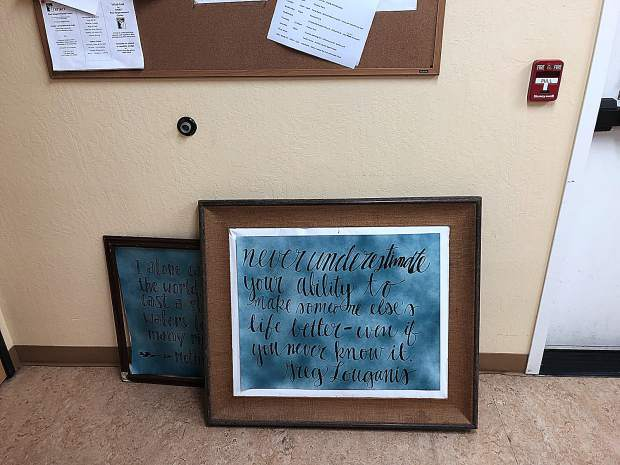 Below is a quotation in the outreach dorm that reads: