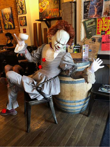Pennywise visits Downtown Grass Valley before the opening of IT: Chapter Two Friday. Pennywise went bowling at Prosperity Lanes and visited Brew Bakers.