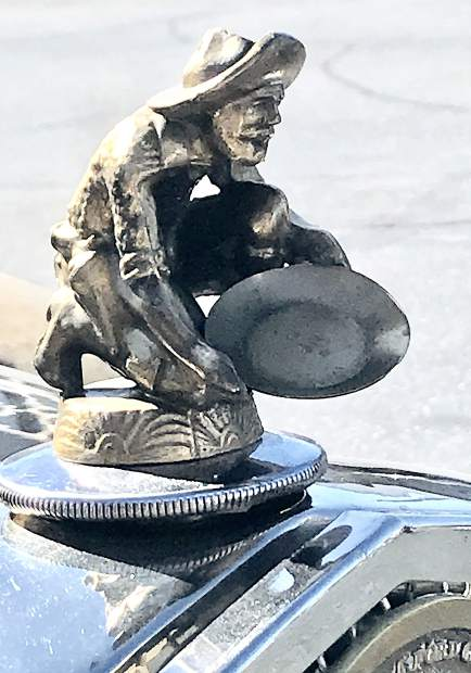 Hood ornament from Cars and Coffee in Grass Valley.