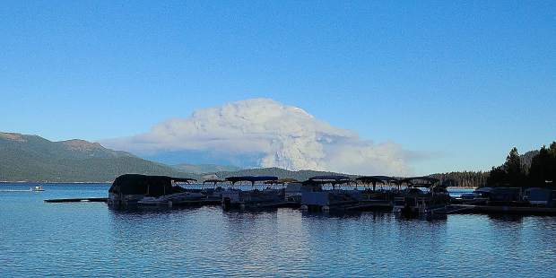 Walker Fire viewed from Plumas Pines Marina, West Shore Lake Almanor on 9/6/2019.