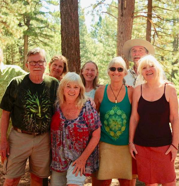 Members Richard Gorman, Deborah Swan, Lisa Lillie, Robin Karlstedt, Beverly Schorr, Paule Castro, and Sylvia Shaw. Our third day at Grover Hot Springs and we all still clean up pretty good.