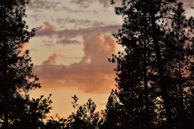 A Nevada County sunset.