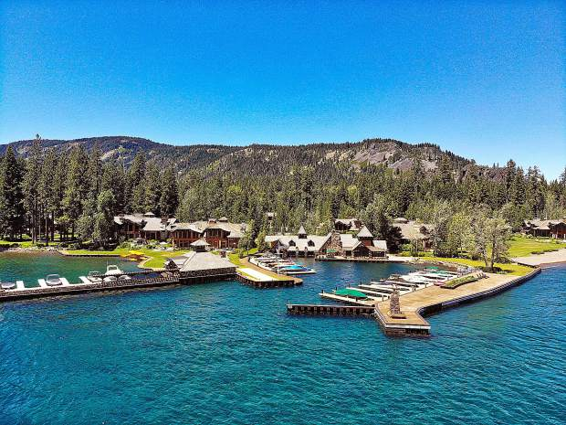 The Godfather's house at Fredo Point, Lake Tahoe.