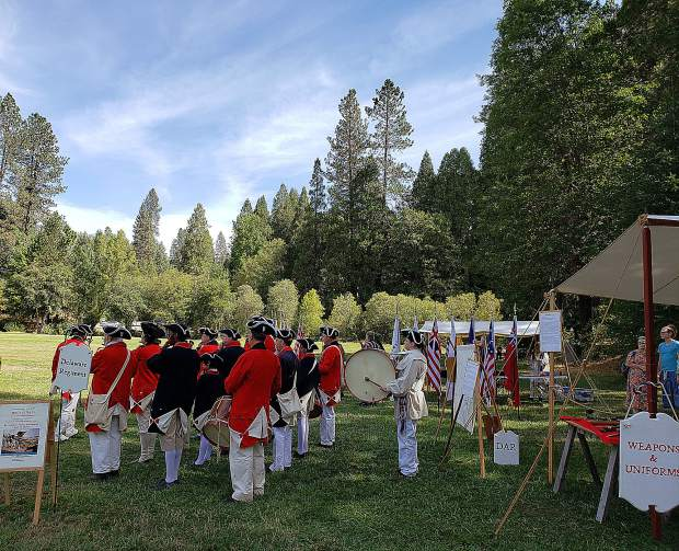 Fife and Drum concert in Pioneer Park.