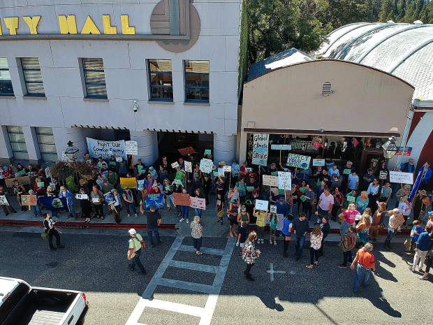 Global Climate Strike at City Hall in Nevada County.