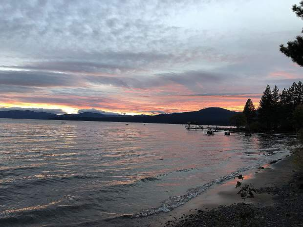 Sunset over Lake Tahoe.