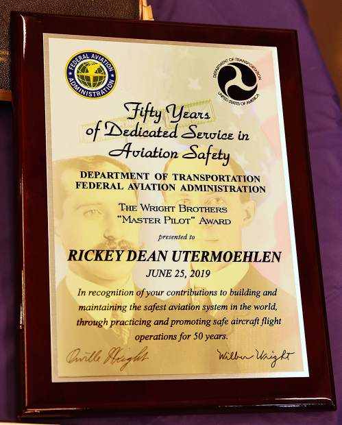 Named after the Wright brothers, the first U.S. pilots, the award recognizes individuals who have exhibited professionalism, skill and aviation expertise with over 50 years of accident-free operation of aircraft as 'Master Pilots.'