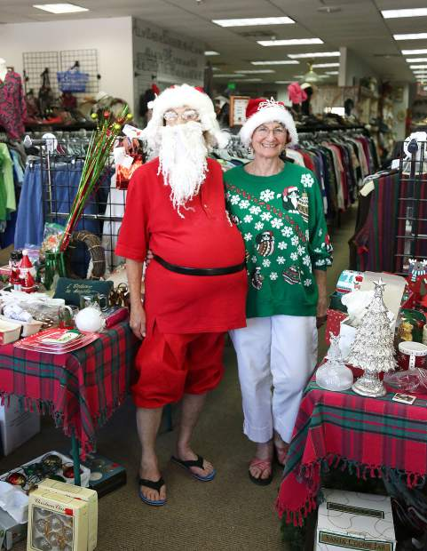 Those doing their thrift store shopping Saturday may have noticed Santa and Mrs. Claus who came south of the Arctic to help promote Bread and Roses' 50 percent off Christmas sale. Those who missed the sale need not despair, the entire store will be 50 percent off for the first Saturday of the month sale coming Sept. 7.