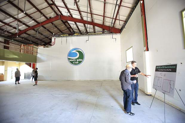 The two buildings of the former South Yuba Club are currently in the process of being transformed into various cannabis related businesses.