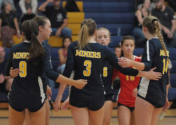 Nevada Union's girls volleyball team beat Placer in straight sets Monday at Albert Ali Gymnasium.