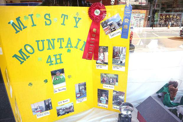 This Misty Mountain 4-H window display was good enough to win second place in the Nevada County 4-H window display competition in celebration of 4-H week in downtown Grass Valley.