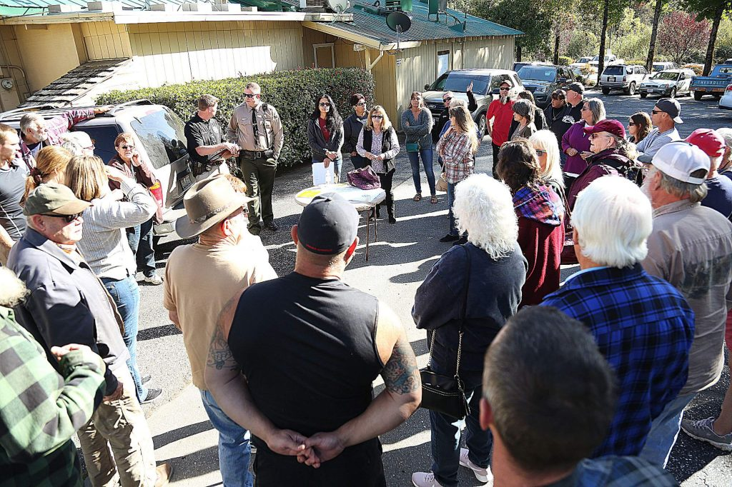 Dozens of concerned friends and family members of Crystal Ashworth gathered behind Uncle Sonny's in Cedar Ridge Wednesday afternoon to begin a formal search for Ashworth, who has been missing since Sunday night.