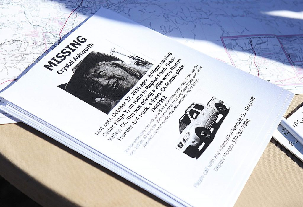 Flyers were passed out for the missing Crystal Ashworth.