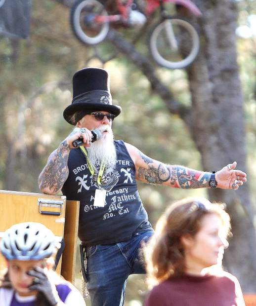 Krazy Alexander was the announcer of the event utilizing his image and voice to energize the crowds during the inaugural Union Hill Invitational Mountain Bike Race held on the grounds of TDS Enduro off of Osborne Hill Road.