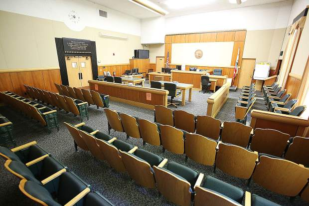 The Judge Frank D. Francis courtroom of the Nevada County Courthouse is one of the nicer courtrooms in the building, however, other rooms on the 3rd floor have been condemned.