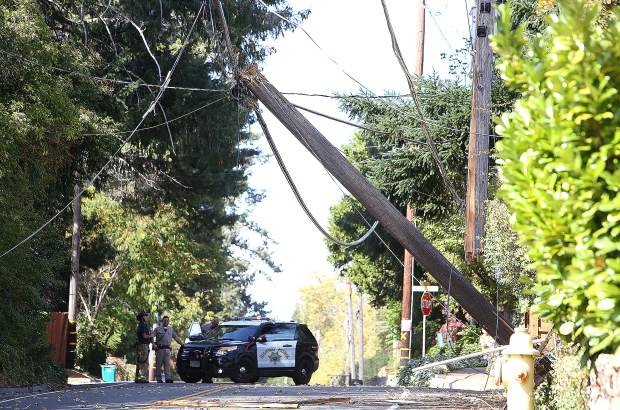 Alta Street was closed to through traffic Tuesday afternoon in Grass Valley.