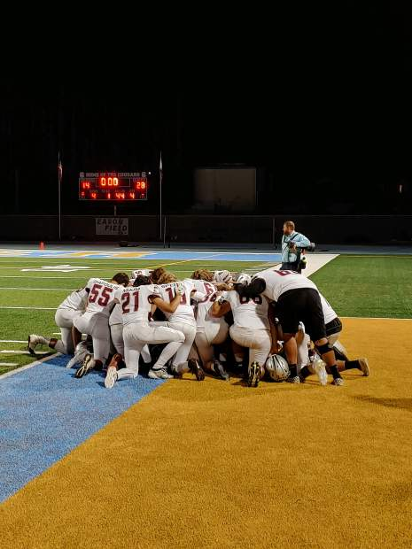 Bear River fell to the Center Cougars, 48-17, Friday night in Antelope.