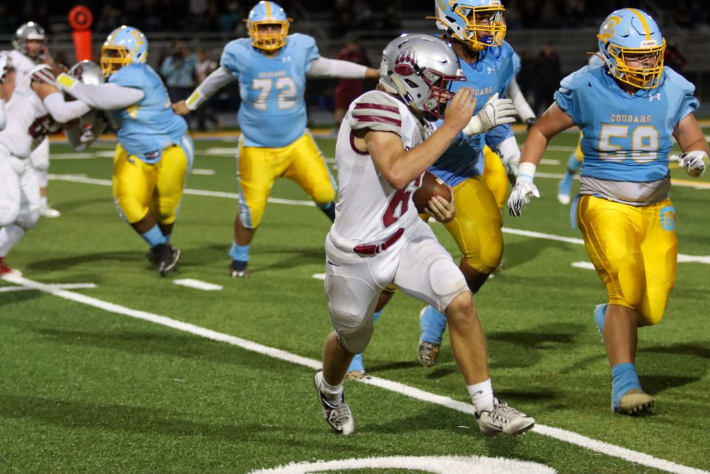 Bear River's Joe Knowlton runs the ball during a game against Center Friday night.