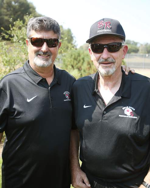 Bear River co-head coaches Terry Logue, right, and Scott Savoie.