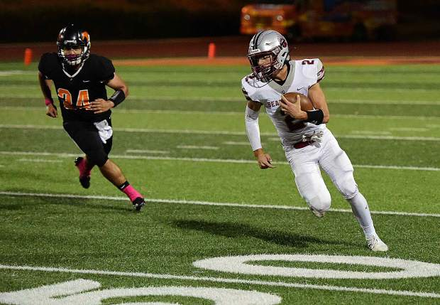 Bear River's Colton Jenkins looks for room to run during a game against Foothill Friday night in Sacramento.
