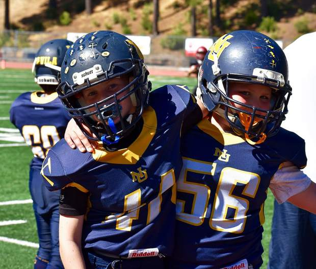 The Nevada Union Jr. Miners 10U team topped Bear River, 36-0, Saturday at Hooper Stadium.