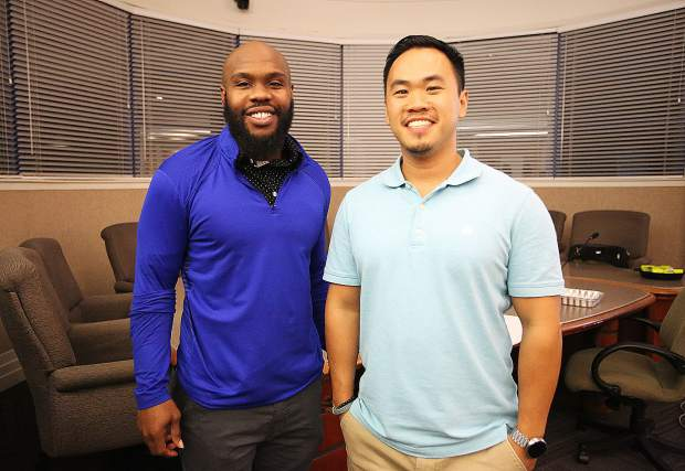 Seth Robertson and Viet Tran are the men behind the firefighting sound wave technology.