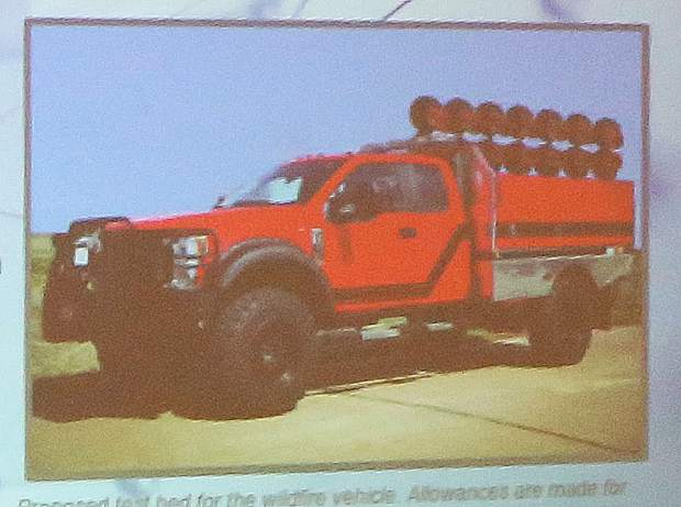 A prototype wildfire truck equipped with Force Vortex