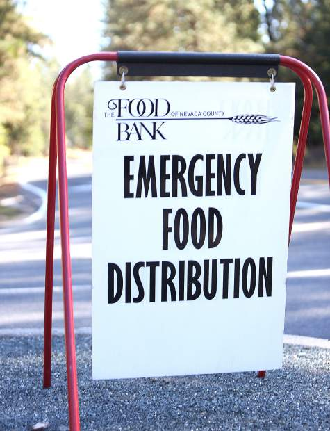 Food Bank of Nevada County announced early Thursday that they would be holding an Emergency Food Distribution at the Rood Government Center from 10 a.m to 1 p.m.