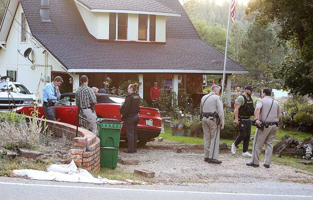 Nevada County deputies, Grass Valley police, Nevada City police and the California Highway Patrol respond to an incident off the 10000 block of Pittsburg Road Oct. 2 where suspects led law enforcement on a brief chase up Gold Flat and Pittsburg roads.
