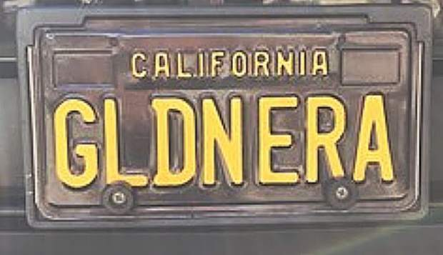 "The vanity license plate GLDNERA refers to Golden Era, the NevCity lounge serving cocktails reminiscent of the ""golden era"" of hand-crafted libations."