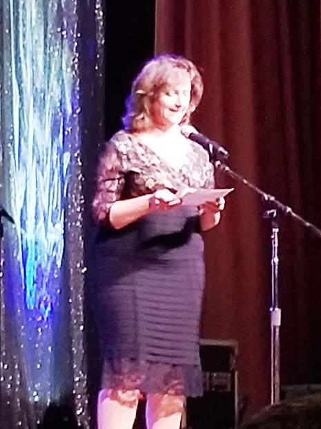 At the Cirque au Center fundraiser for the Center for the Arts, Event Hostess and Grass Valley Mayor Lisa Swarthout welcomed party-goers.