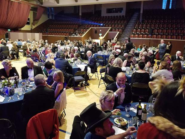 More than 250 music and arts lovers attended this year's Center for the Arts dinner-dance, which raised more than $135,000 for the Center's ongoing renovation project.
