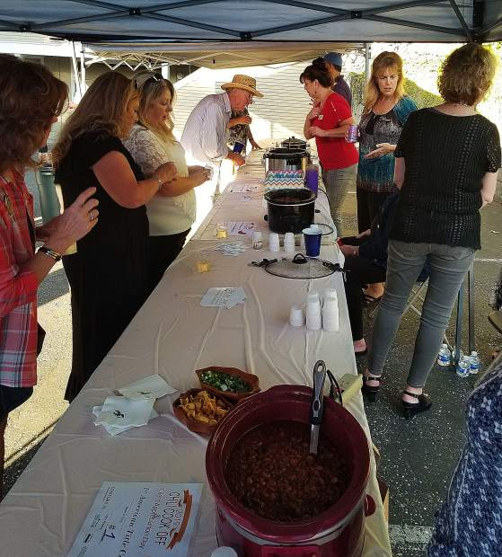 Chili: Guests at the 28th annual Century 21 Cornerstone Realty Nevada City Chamber of Commerce Mixer and Chili Cook-off Competition voted for their favorite chili concoctions.